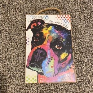 Dog (boxer) hanging decor